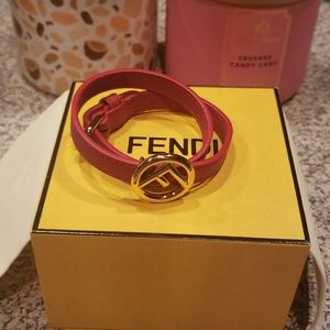 NIB F is Fendi leather bracelet
